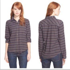 Current/Elliot Tomboy Flannel Button Down shirt